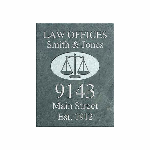 Attorney's Office Hanging Slate Address Sign