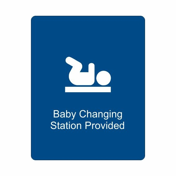 Baby Changing Station Provided Sign