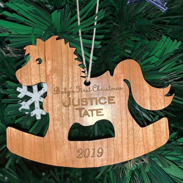 Baby's First Christmas Personalized Xmas Tree Ornament