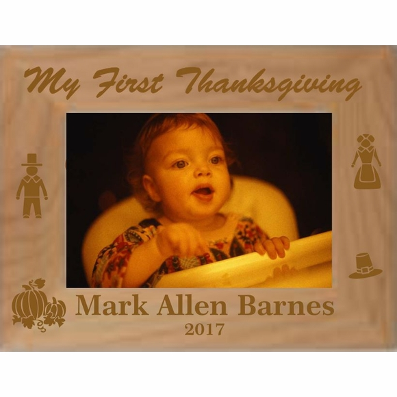 Baby's First Thanksgiving Personalized Custom Engraved Picture Frame