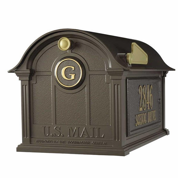 Decorative Mailbox with Monogram and Address