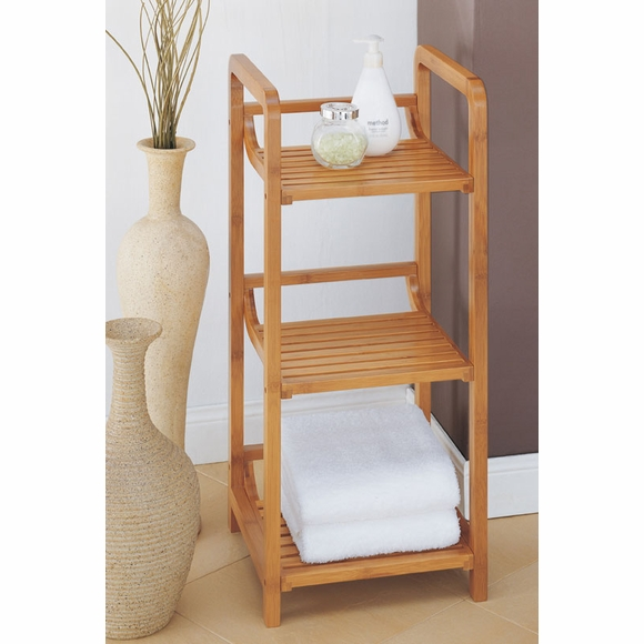 Bamboo 3 Shelf Tower