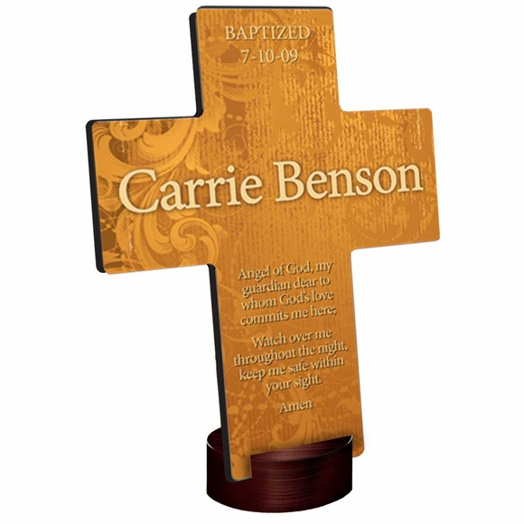 Baptism Gift Personalized Gardens of Grace Cross
