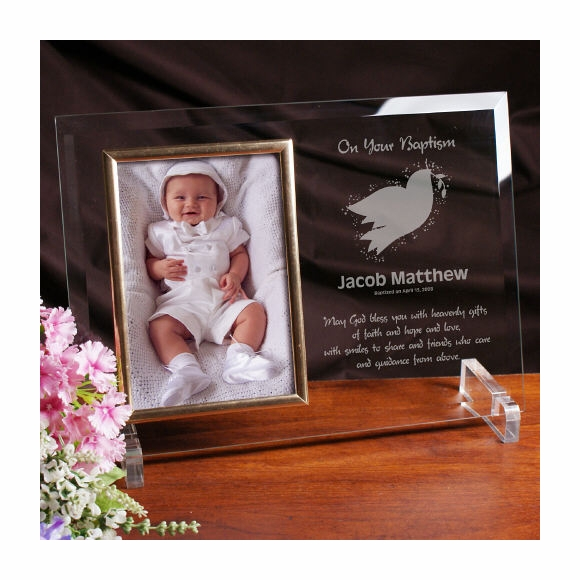 Baptism or Christening Gift Personalized Picture Frame