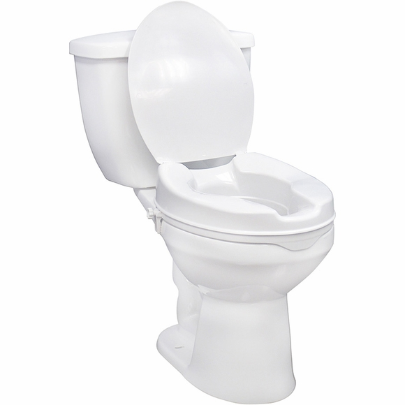 Bariatric Raised Toilet Seat with Lid