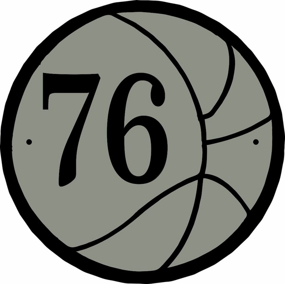 Basketball Address Number Plaque