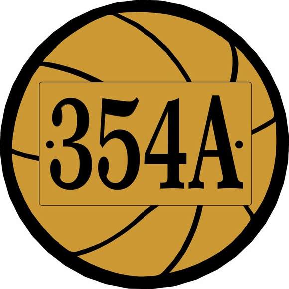 Basketball Shape Address Number Sign