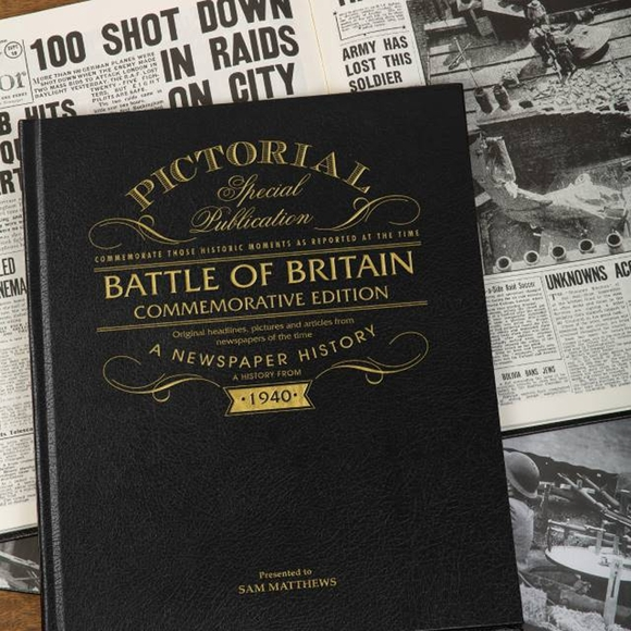 Battle of Britain Newspaper Compilation Gift For World War II Vets, History Buffs, and Collectors