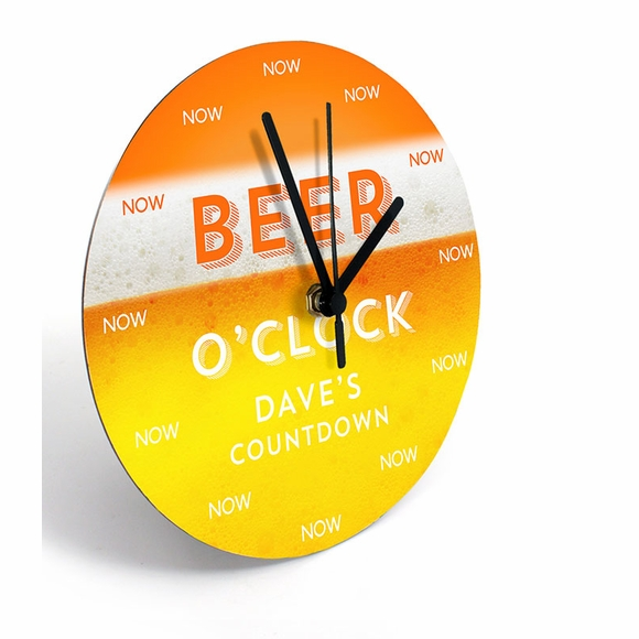 Beer Time Personalized Wall Clock