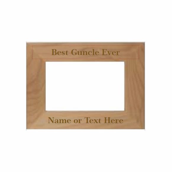 Best Guncle Ever Personalized Picture Frame