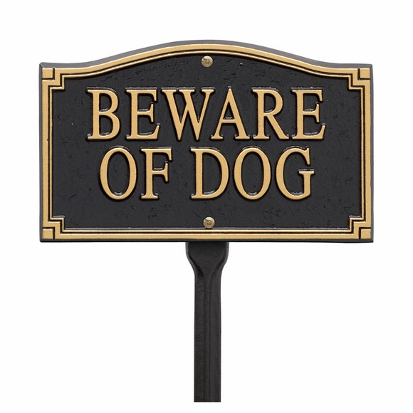 Beware of Dog Sign For Wall Mount or Lawn Stake