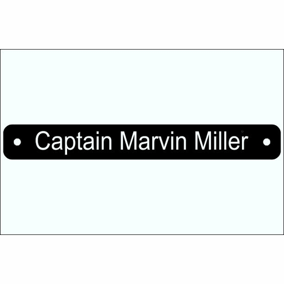 Boat Crew Name Plate - Captain, Mate, Steward, Engineer, Chief, Chef