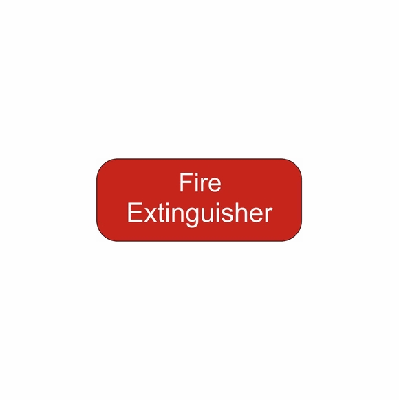 Boat Fire Extinguisher Plaque - Small Fire Extinguisher Sign With or Without Arrow