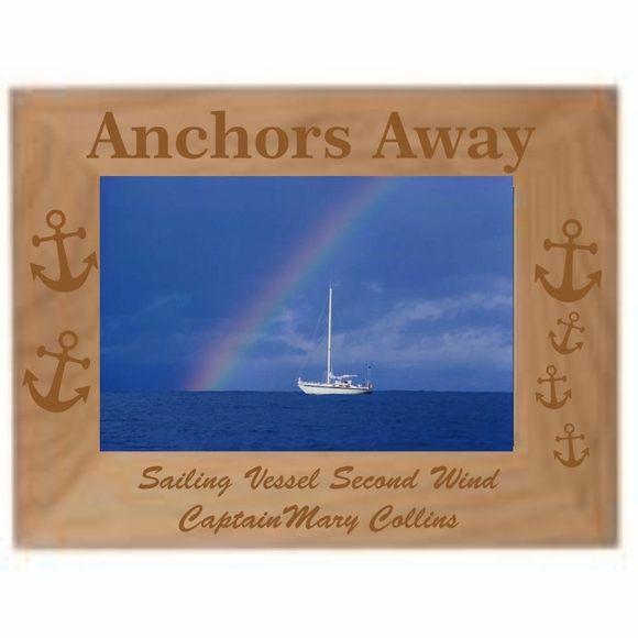 Boating Theme Picture Frame - Custom Engraved & Personalized