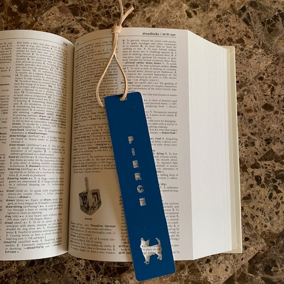 Bookmark Personalized With Name And Dog Image - Terrier, Lab, Poodle, Shepherd, Setter, Beagle, Dachshund and Other Breeds