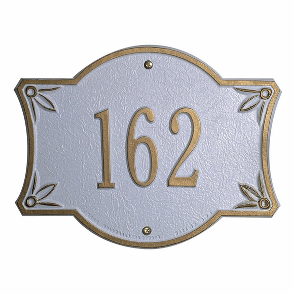 Bordeaux Personalized House Number Sign