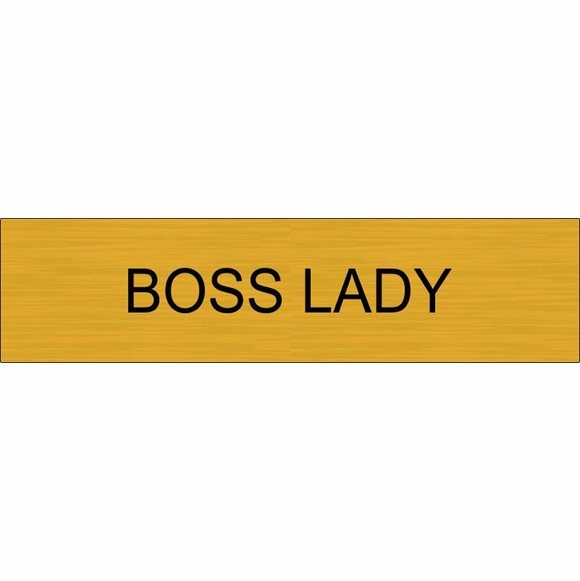 Boss Lady Name Plate