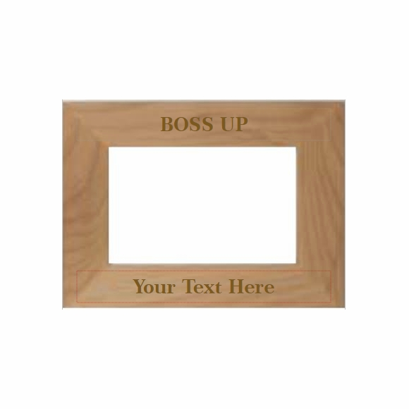 Boss Up Personalized Picture Frame