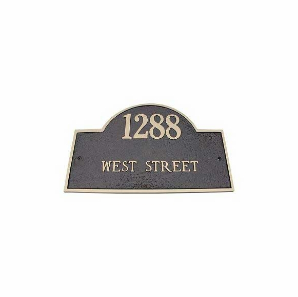 Brass Address Plaque