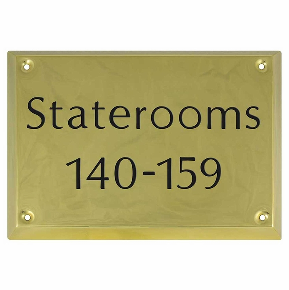 Brass Hallway Sign - Room Number Sign