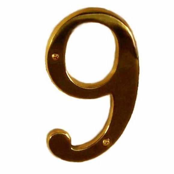 Brass House Numbers and Brass Letters