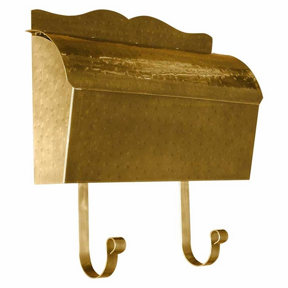 Brass Mailbox with Roll Top Lid