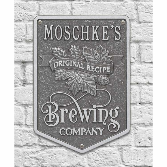 Brewing Company Original Recipe Plaque Personalized With Name