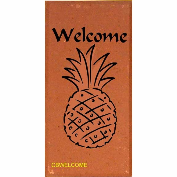 Brick Engraved With Welcome Pineapple