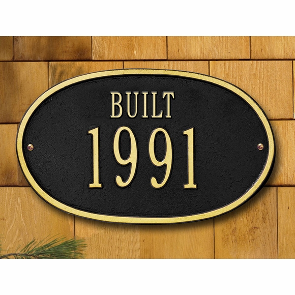 Year BUILT Sign - Custom Metal Plaque