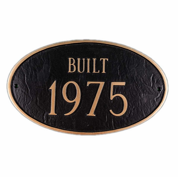 BUILT Year Historic Property Plaque