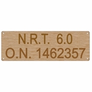 Canadian Vessel Registration Plate Oak