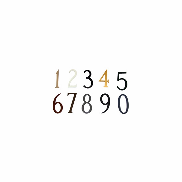 Cast Aluminum House Numbers & Building Numbers - Choose Your Size and Color