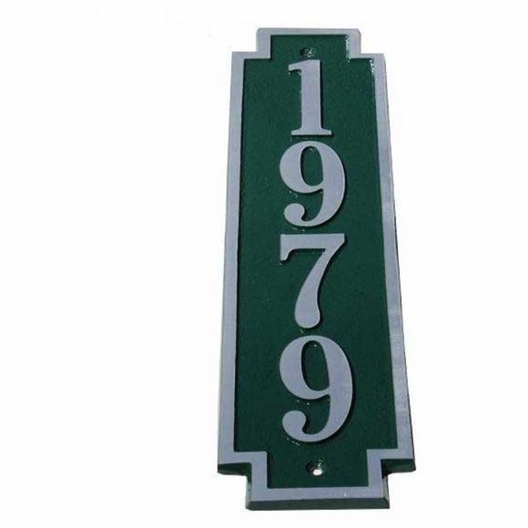 Cast Aluminum Vertical Address Plaque
