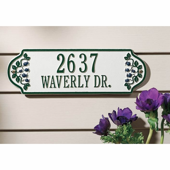 Personalized Blueberry Address Sign