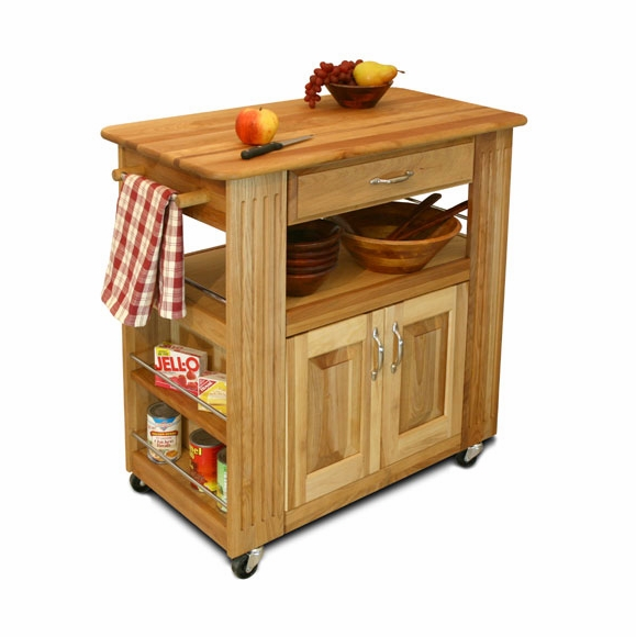 Large Butcher Block Top Kitchen Island On Wheels
