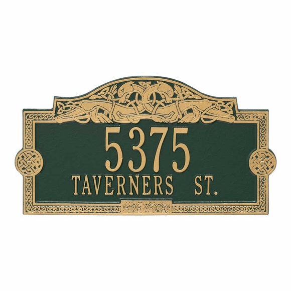 Address Plaque With Celtic Dragon and Knot Border