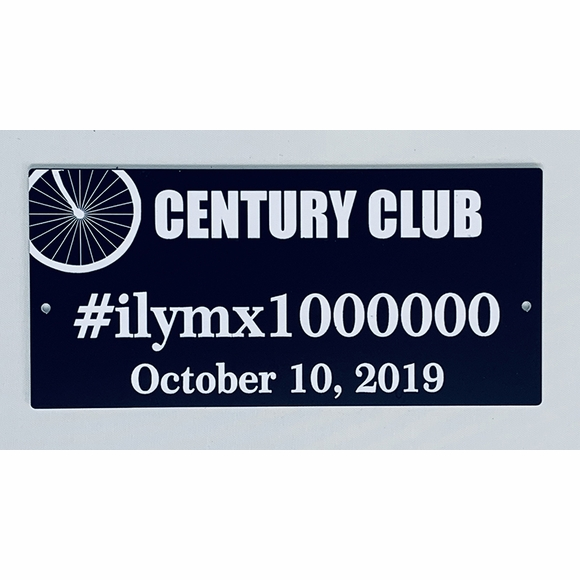 Century Ride Custom Plaque Personalized With Hashtag And Date