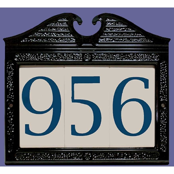 Ceramic Address Number in Regency Frame