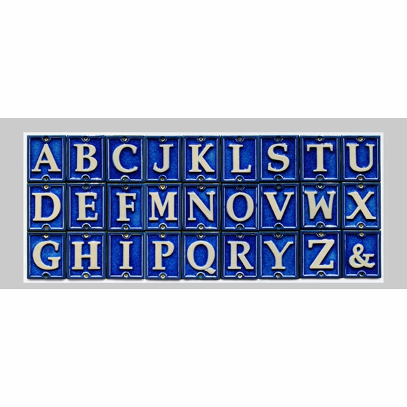 Ceramic Glass Letter Tile