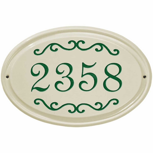 Ceramic Street House Number Address Plaque