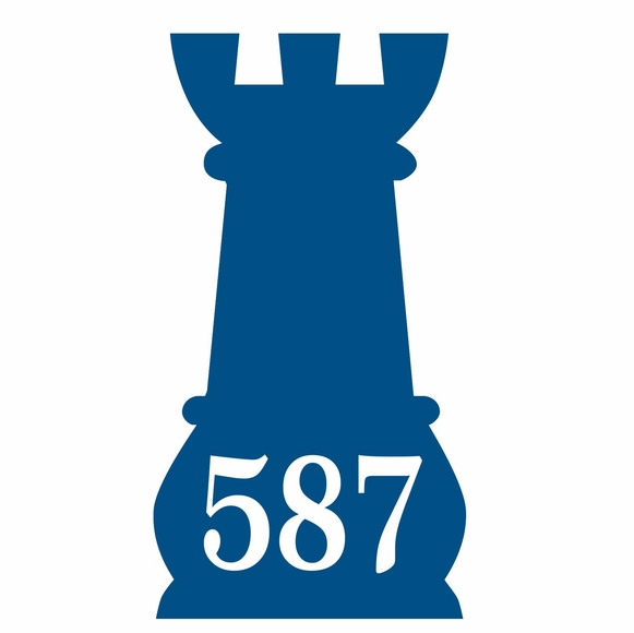 Chess Piece Shape Address Sign or Wall Art - Pawn, King, Queen, Bishop, Rook, Knight