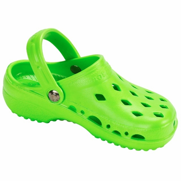 Children's NothinZ Plastic Clog Lime Green