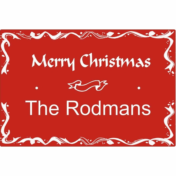 Personalized Christmas Greeting Sign For Wall Mount or Optional Lawn Mount