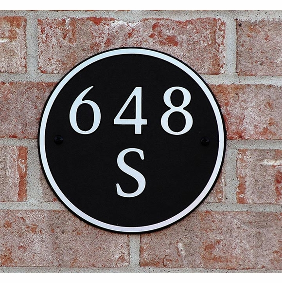 Circle House Number Sign