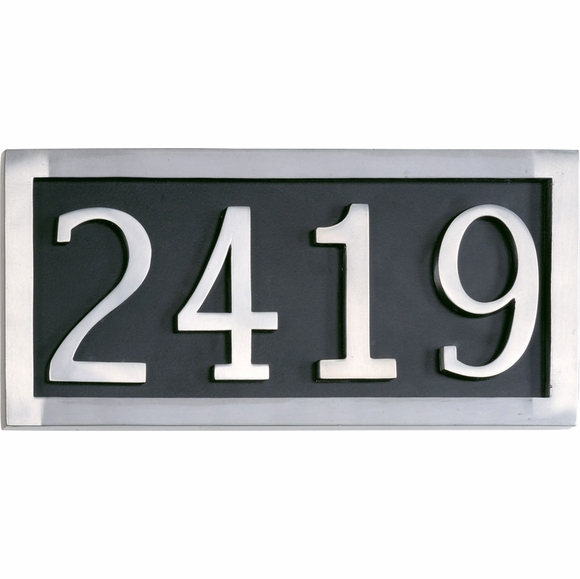 Classic Address Plaque with 4 Large Numbers
