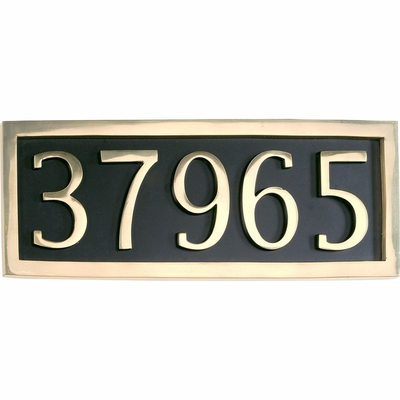 Classic Address Plaque with 5 Large Numbers
