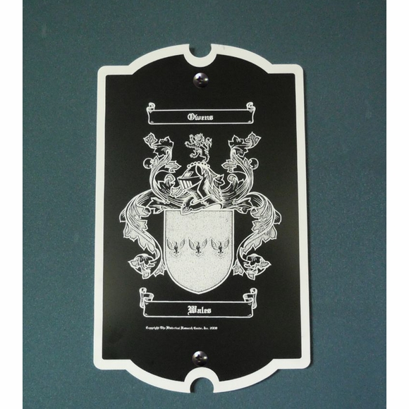 Coat of Arms Plaque Personalized for Your Family Name