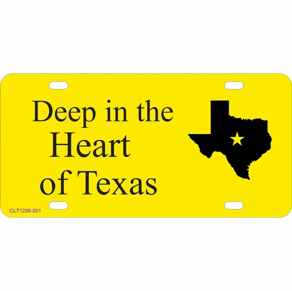Novelty Texas License Plate