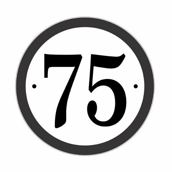 Round Address Sign For Up To 4 House Numbers
