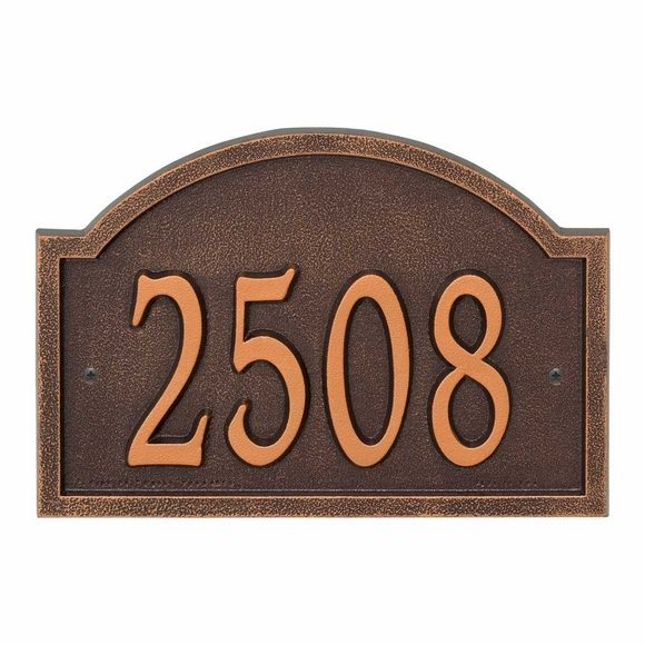 Comfort House Arch Shape Metal Address Number Plaque
